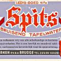 Etiket Spits bruisend water 1947