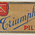 Etiket Triumph pils