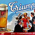 Reclamebord Triumph pils 1962