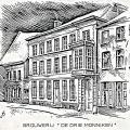 Pentekening voormalig brouwershuis De Drie Monnikken