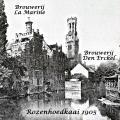 Zicht vanop Rozenhoedkaai 1905