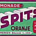 Ontwerp etiket 1950 Spits limonade orange
