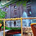 Brouwerijgebouw vanop terras Opus Latino 2016
