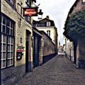 Blekerstraat,links achter Rococohuis 1993