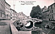 Augustijnenbrug 1920 links gebouwen brij Lion d'Or