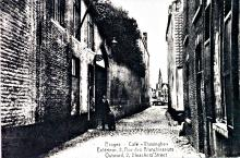 Zicht van de Blekersstraat 1920 op het einde de Poortersloge
