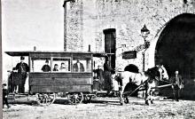 Paardentram aan de Kruispoort 1895