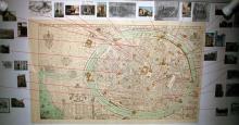 Kaart Brugge 1562 Marcus Geraerts met verwijzingen naar brouwerijen