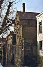 brouwerijgebouw vanop Ezelsbrug 1980
