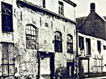 Muur van de mouterij 1955 (oude Schipperskapel)